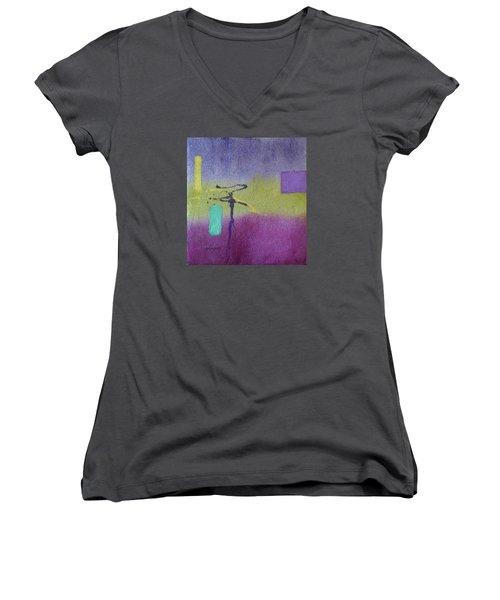 Finding Balance Women's V-Neck T-Shirt (Junior Cut) by Becky Chappell