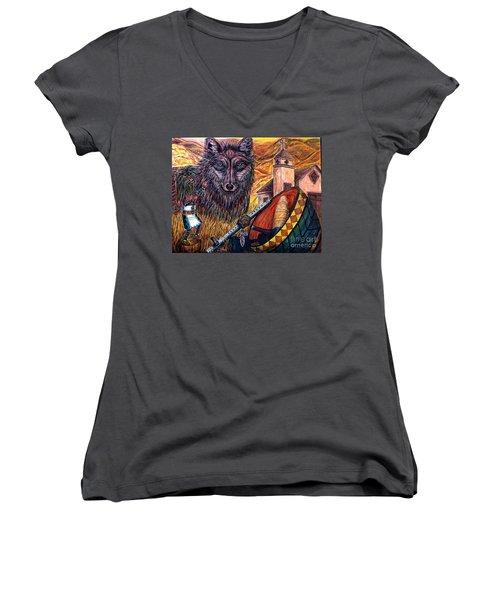 Finding Ones' Way Women's V-Neck T-Shirt (Junior Cut) by Kim Jones