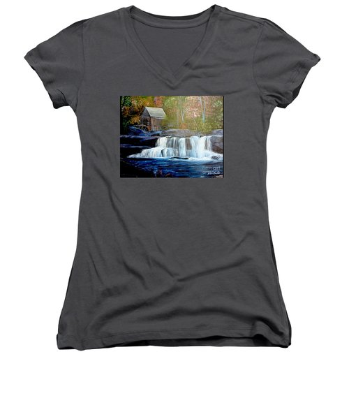 Finding The Living Waters Original Women's V-Neck (Athletic Fit)