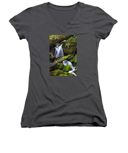 Finds A Way Women's V-Neck T-Shirt (Junior Cut)