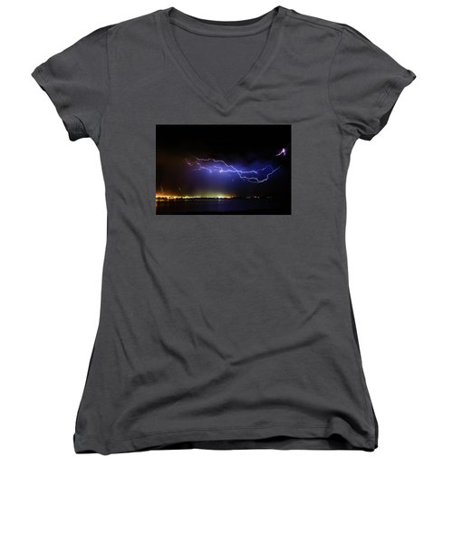 Fingers Across The Lake Women's V-Neck