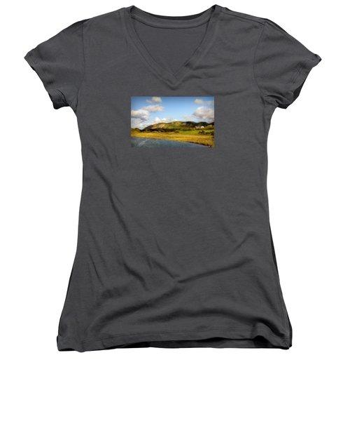 Finlay Point Women's V-Neck T-Shirt (Junior Cut) by Ken Morris