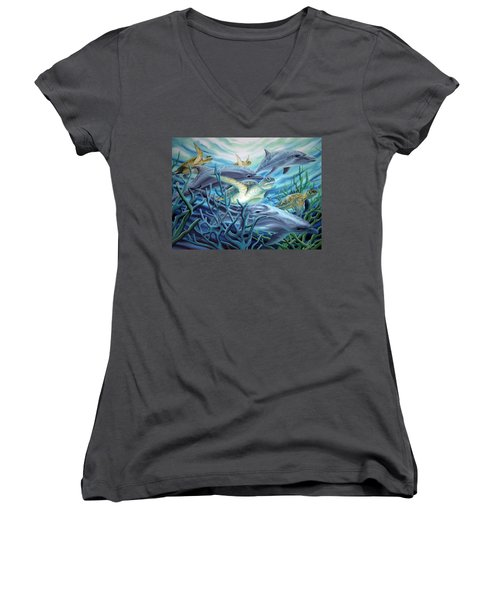 Fins And Flippers Women's V-Neck