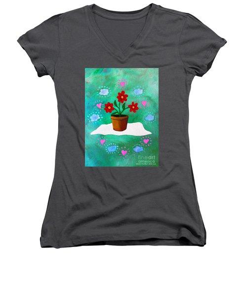 Orsanniah-orssanniae Women's V-Neck T-Shirt (Junior Cut) by Don Pedro De Gracia