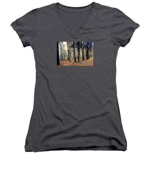 Fir Forest-3 Women's V-Neck T-Shirt