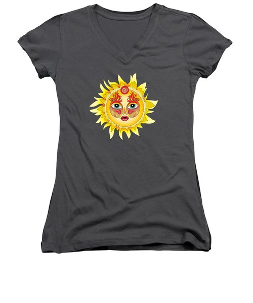 Fire Element Women's V-Neck T-Shirt (Junior Cut) by Serena King