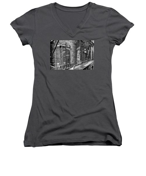 Fire Escape And Doors Women's V-Neck (Athletic Fit)