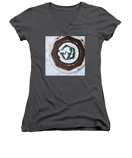 Fire Hydrant 9 Women's V-Neck T-Shirt (Junior Cut) by Suzanne Lorenz