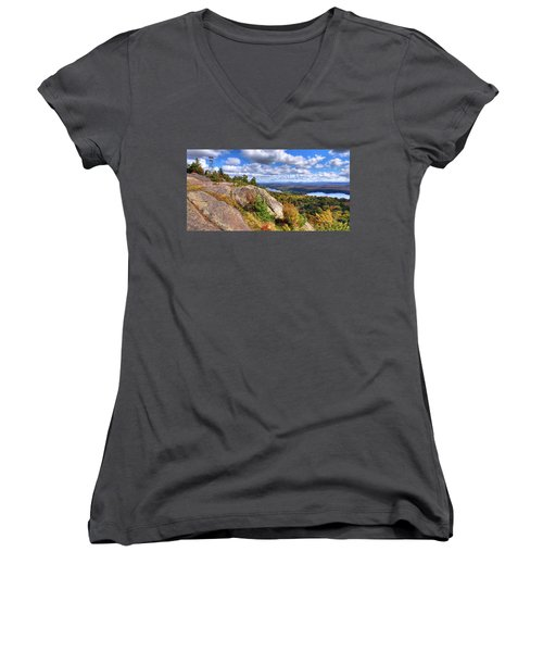 Fire Tower On Bald Mountain Women's V-Neck