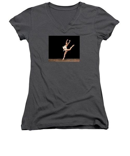 Firebird Ballet Position Women's V-Neck T-Shirt