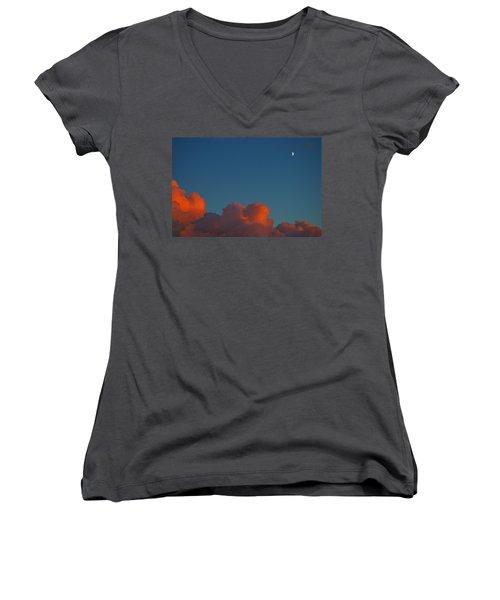 Fireclouds 2 Women's V-Neck T-Shirt