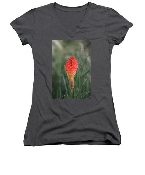 Women's V-Neck T-Shirt featuring the photograph Firecracker by David Chandler