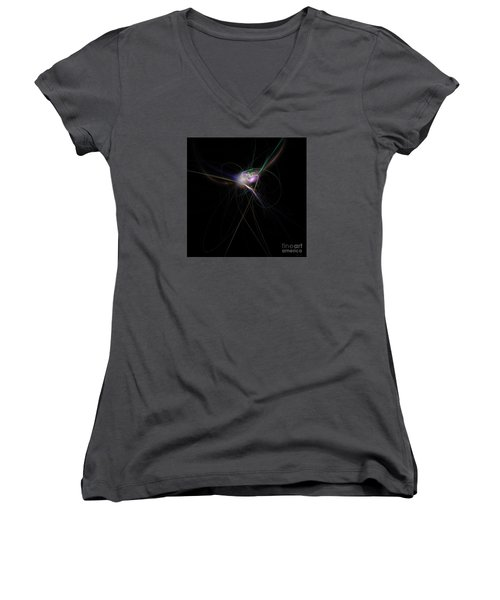 Firefly Scribble  Women's V-Neck T-Shirt (Junior Cut) by Elizabeth McTaggart