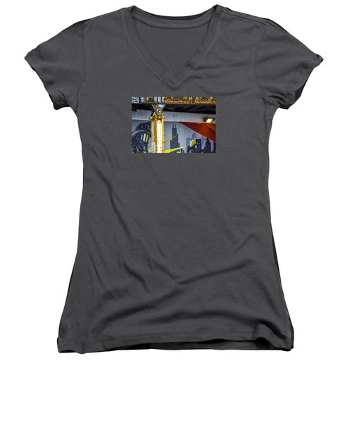 Fireman At Addison And Lincoln V4 Women's V-Neck T-Shirt