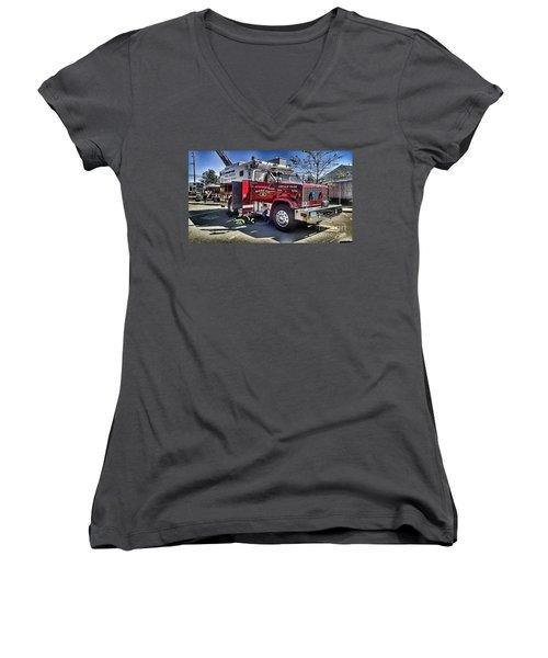 Firemen Honor And Sacrifice #1 Women's V-Neck