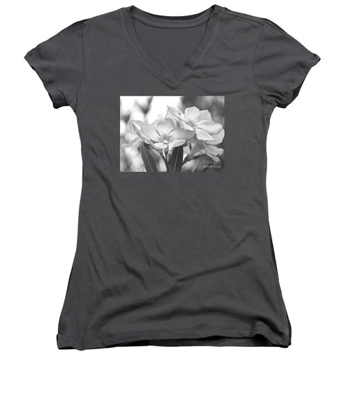 Women's V-Neck T-Shirt (Junior Cut) featuring the photograph Firewalker Sw1 by Wilhelm Hufnagl