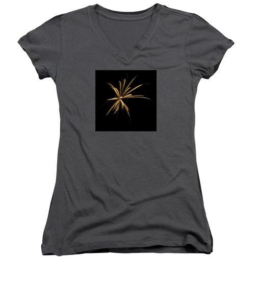 Fireworks 1 Women's V-Neck T-Shirt (Junior Cut) by Ellery Russell