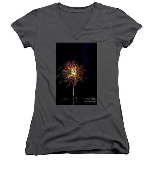 Fireworks Women's V-Neck T-Shirt (Junior Cut) by William Norton