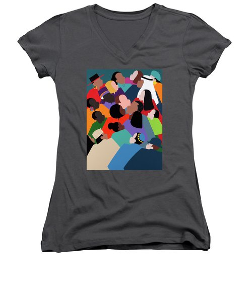 First Family The Obamas Women's V-Neck (Athletic Fit)