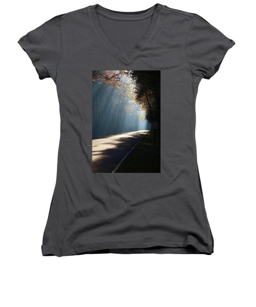 First Light Women's V-Neck T-Shirt (Junior Cut) by Lamarre Labadie