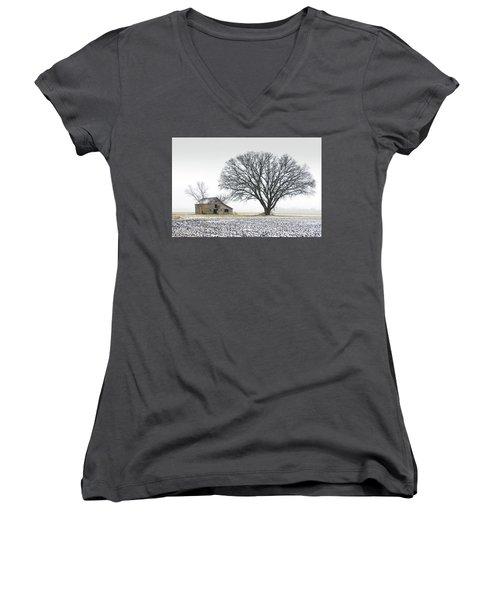 Winter's Approach Women's V-Neck T-Shirt