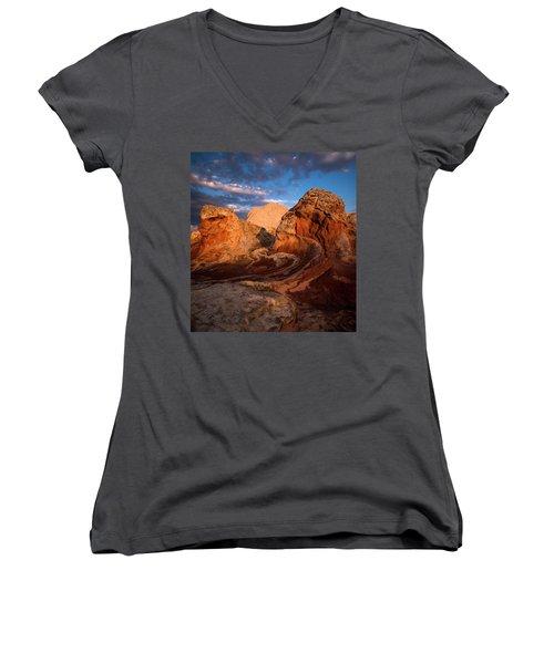First Touch Women's V-Neck T-Shirt (Junior Cut) by Bjorn Burton