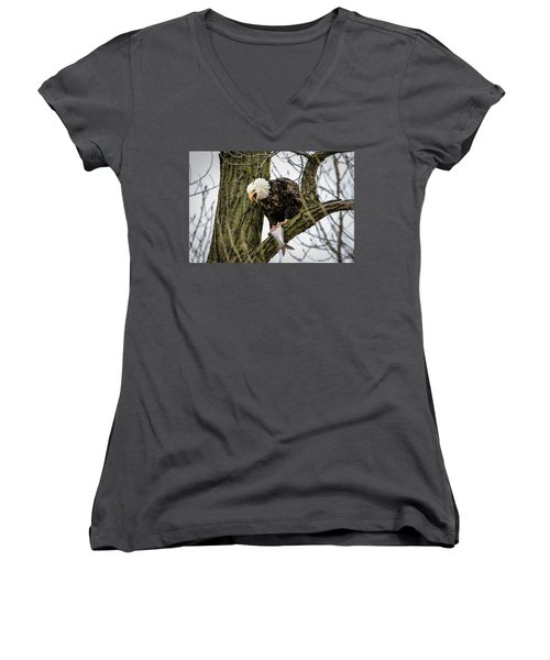 Fish For Dinner Women's V-Neck T-Shirt
