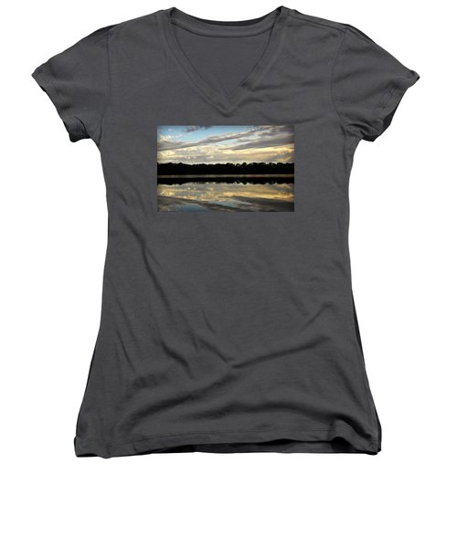 Women's V-Neck T-Shirt (Junior Cut) featuring the photograph Fish Ring by Chris Berry