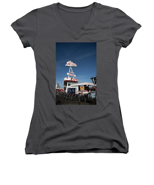 Fisherman's Wharf Bike Rental Women's V-Neck T-Shirt