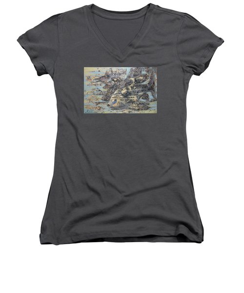 Fishes. Monotype Women's V-Neck