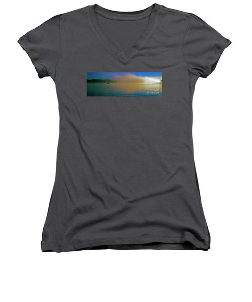 Fishing Boat Day Break  Women's V-Neck (Athletic Fit)