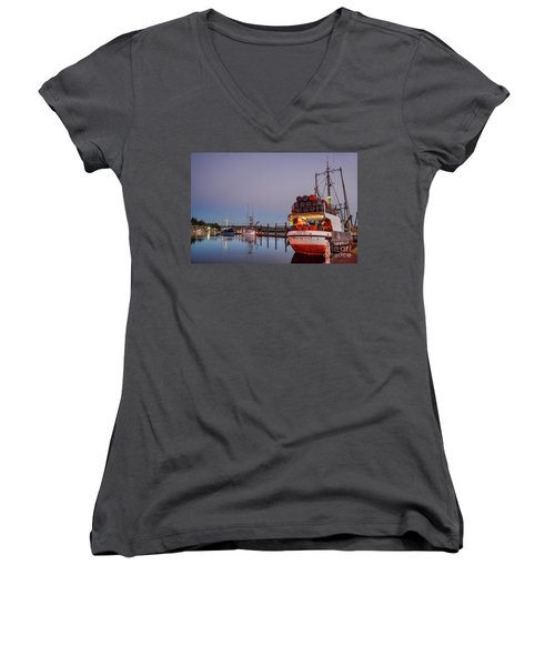 Fishing Boats Waking Up For The Day Women's V-Neck