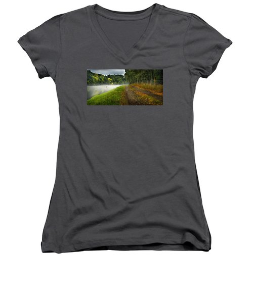 Fishing The River Beauly Women's V-Neck (Athletic Fit)