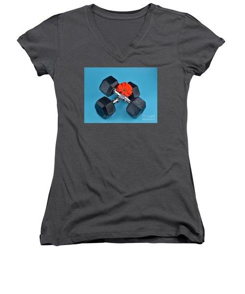 Fitness By Daisy Women's V-Neck T-Shirt (Junior Cut) by Ray Shrewsberry