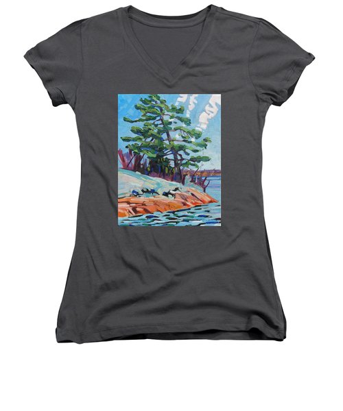 Flags And Contrails Women's V-Neck