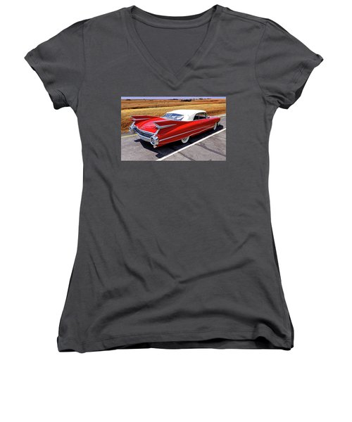 Flamboyant Fifty-nine Women's V-Neck T-Shirt (Junior Cut) by Christopher McKenzie