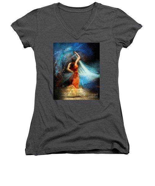Flamencoscape 05 Women's V-Neck T-Shirt
