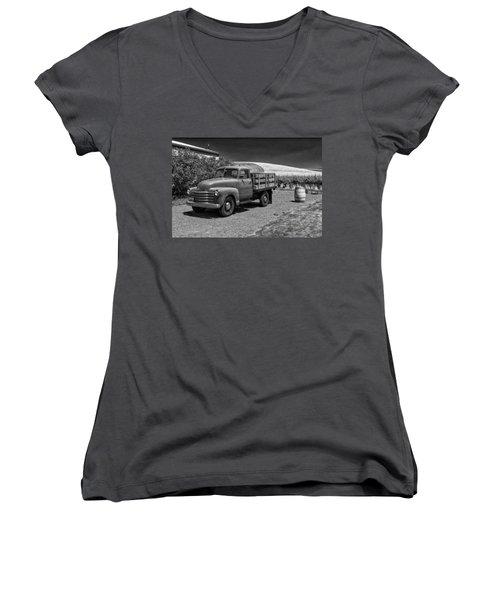 Flat Bed Chevrolet Truck Dsc05135 Women's V-Neck (Athletic Fit)