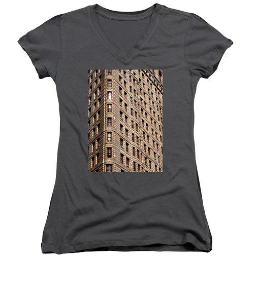 Flat Iron Women's V-Neck T-Shirt