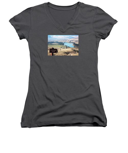 Flathead River 4 Women's V-Neck (Athletic Fit)
