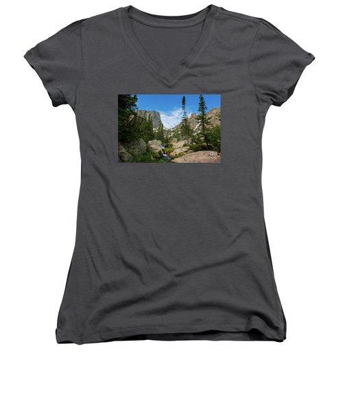 Flattop Mountain Women's V-Neck T-Shirt