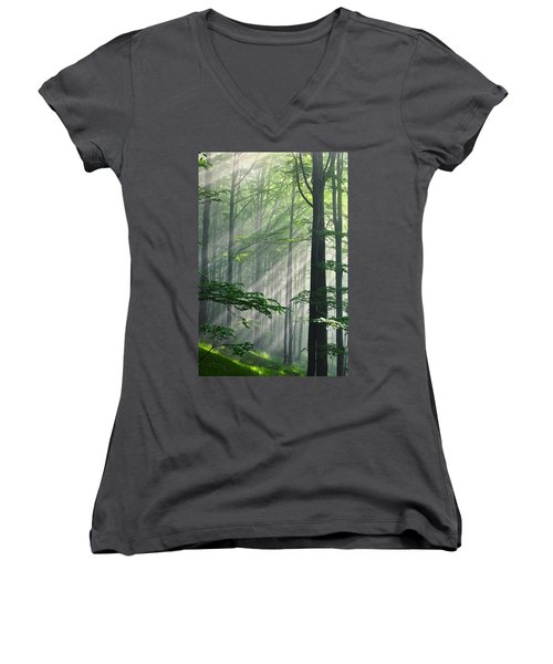 Fleeting Beams Women's V-Neck