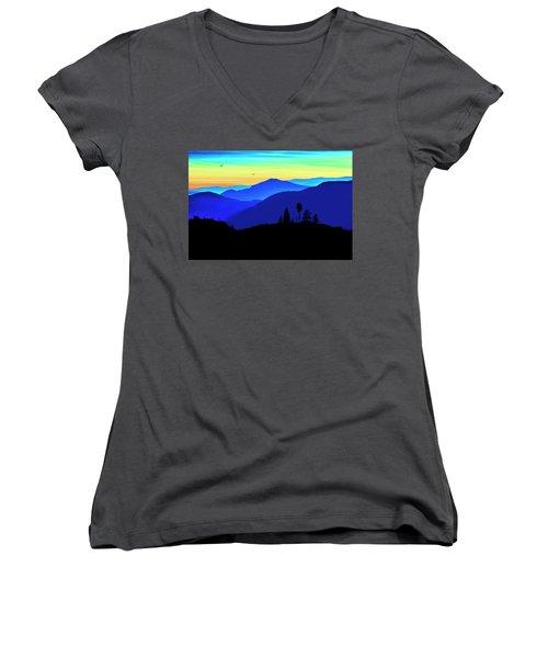 Women's V-Neck T-Shirt (Junior Cut) featuring the photograph Flight Of Fancy by John Poon