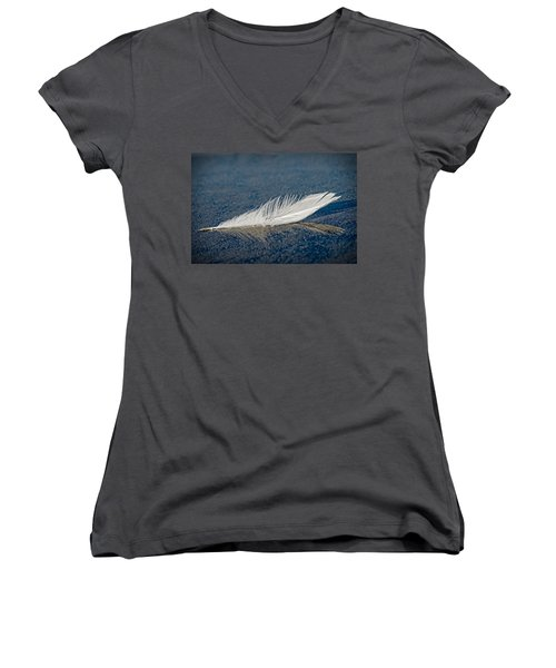 Floating Feather Reflection Women's V-Neck