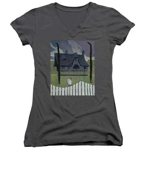 Floating House Women's V-Neck