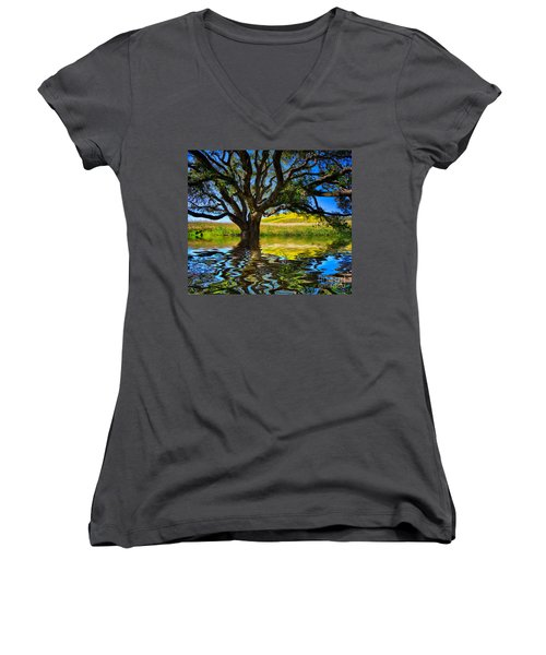 Flooded Oak Women's V-Neck T-Shirt
