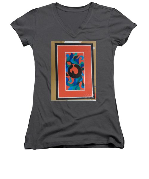 Floor Cloth E - Sold Women's V-Neck T-Shirt