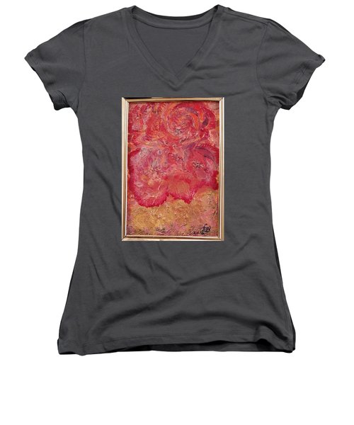 Floral Abstract 2 Women's V-Neck