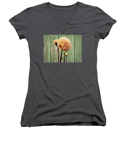 Floral Delight Women's V-Neck T-Shirt