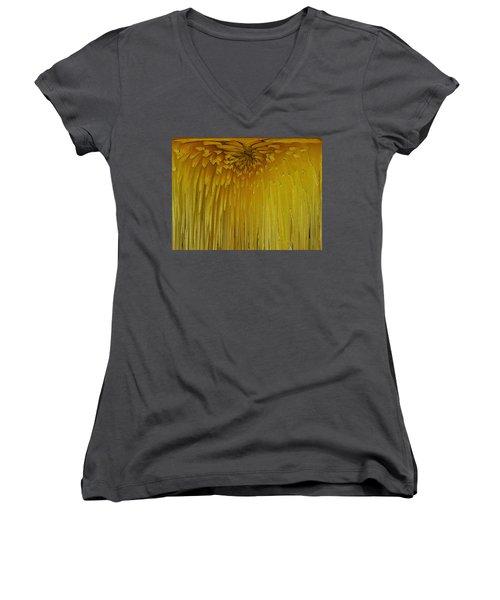 Floral Falls 5 Women's V-Neck T-Shirt